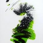 WASABI 2 acrylique sur toile 100 x 50
