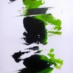 WASABI 1 acrylique sur toile 100 x 50